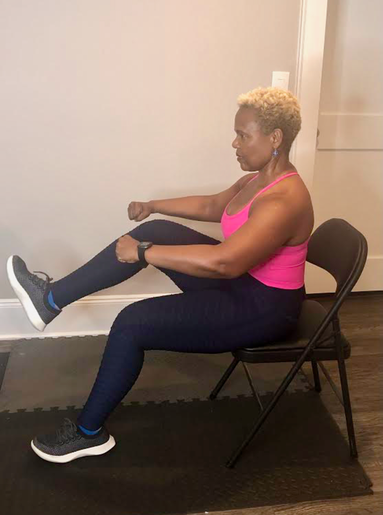 How to work out your core while seated.